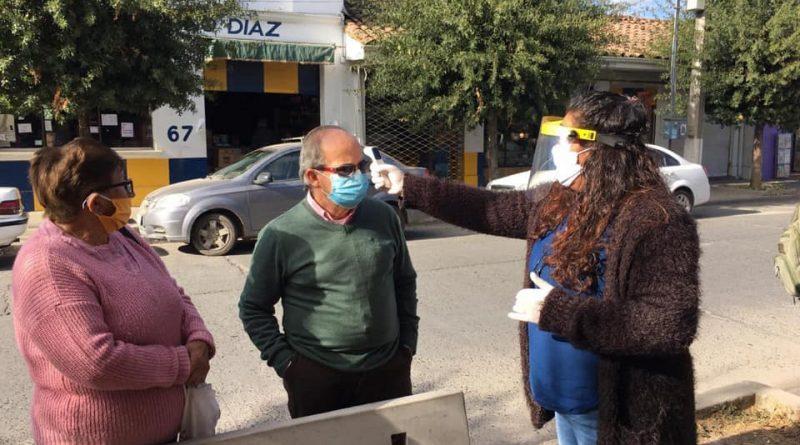 CONTROLES DE TEMPERATURA EN DISTINTOS SECTORES DE LA COMUNA